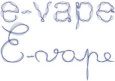 E-vape word in blue smoke Stock Photography