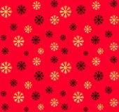 E Vector abstracte achtergrond met gouden, zwarte sneeuwvlokken Royalty-vrije Stock Afbeelding