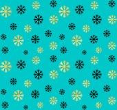 E Vector abstracte achtergrond met gouden, zwarte sneeuwvlokken Royalty-vrije Stock Fotografie