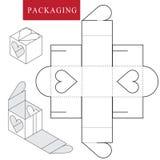 E Vectorillustratie van doos royalty-vrije illustratie