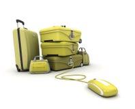 E-viaggi nel colore giallo Fotografia Stock Libera da Diritti