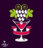 E Vidro estilizado de martini Fotografia de Stock