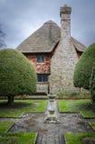 English Cottage and Garden. E view of an English cottage and garden, East Sussex, England, UK Stock Photos