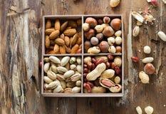 E Vista superior Alimento saudável cru Fotografia de Stock