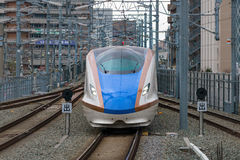 E7/W7 Series bullet (High-speed or Shinkansen) train. Royalty Free Stock Photography