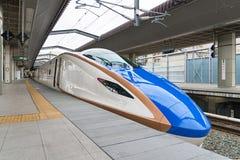 E7/W7 Series bullet (High-speed or Shinkansen) train. Stock Photos