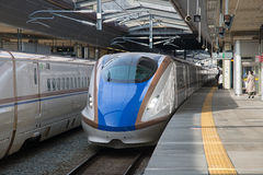 E7/W7 Series bullet (High-speed or Shinkansen) train. Stock Photography