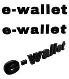 E-Wallet black 3D  tex Royalty Free Stock Photo