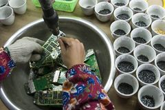 E-waste in china Royalty Free Stock Images