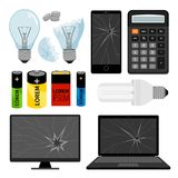 E-waste icons collection Stock Photography