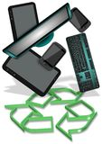 E-waste recycling Stock Images