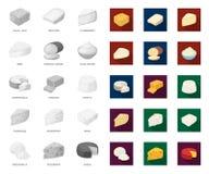 E Web d'actions de symbole de vecteur de fromage de produit laitier illustration libre de droits