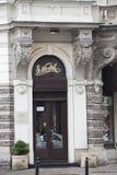e Wedel-chocolade merk-banketbakkerij stock afbeelding