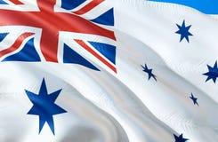 E wellenartig bewegendes Design der Flagge 3D r Das nationale stockbild