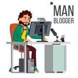 E Wideo pojęcie Fachowy gamer Osobisty Weblog kanał Blogosphere Online popularny ilustracji