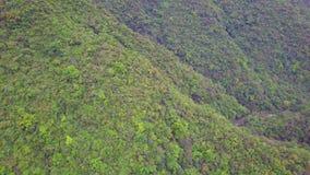 Zieleni Yilan Halni wzgórza z Luksusowym ulistnieniem w Tajwan widok z lotu ptaka zbiory