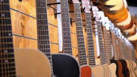 E Winkel muzikale instrumenten stock video