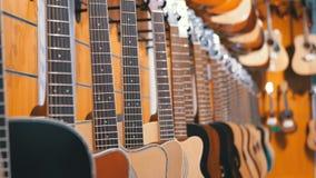 E Winkel muzikale instrumenten stock videobeelden