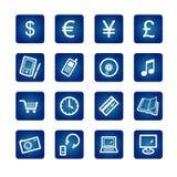 e-winkel pictogrammen stock illustratie