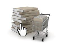 E-winkelt, de illustratie van het boekhandelconcept royalty-vrije illustratie