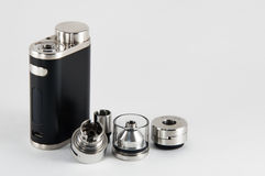 E-Zigarette RDA, rebuildable Zerstäuber RTA Lizenzfreie Stockfotografie