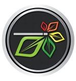 E-Zigaretten-Logovektor Lizenzfreie Stockfotos