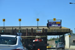 E-ZPass Toll Booth in NY Royalty Free Stock Photos