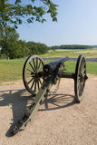E14 Cannon at Gettysburg. A Union cannon overlooks the battlefield at Gettysburg Stock Image