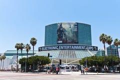 E3 2010, entrada principal da expo Fotografia de Stock Royalty Free
