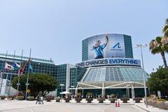 E3 2010, het Sponsoring van de Beweging PlayStation van de Gebeurtenis stock fotografie
