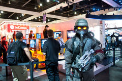 E3 2010, Sony introducing Killzone 3 for PS3 Stock Images