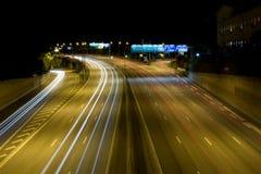 e4高速公路晚上 库存照片