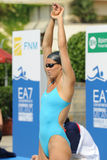 Ea7. MILAN, ITALY - SEPT 21: Teresa Alshammar swimming champion during the performance september 21, 2008 in Milan, ITALY Stock Photo