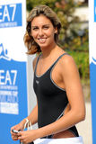 Ea7. MILAN, ITALY - SEPT 20:  Alessia Filippi swimming champion during the performance september 20, 2008 in Milan, ITALY Stock Image
