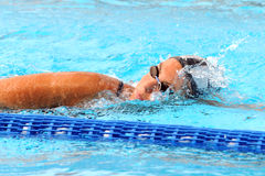 Ea7. MILAN, ITALY - SEPT 20:  Alessia Filippi swimming champion during the performance september 20, 2008 in Milan, ITALY Stock Photo