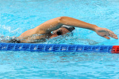 Ea7. MILAN, ITALY - SEPT 20:  Alessia Filippi swimming champion during the performance september 20, 2008 in Milan, ITALY Stock Photos