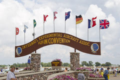 EAA Grounds Main Gate Close Up Royalty Free Stock Images