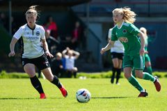 Eabha O`Mahony at the Women`s National League game: Cork City FC vs Galway WFC. May 12th, 2019, Cork, Ireland - Eabha O`Mahony at the Women`s National League stock photo
