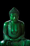 Eacful asian buddha zen tao religion art style statue. Calm green emerald buddha, peacful asian buddha zen tao religion art style statue Royalty Free Stock Images