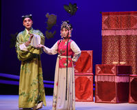 "Each have their own ideas-Kunqu Opera ""the West Chamber"" Stock Photography"
