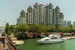 Eadry度假旅馆在海南岛上的三亚市 免版税库存照片