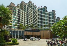 Eadry度假旅馆在海南岛上的三亚市 免版税库存图片