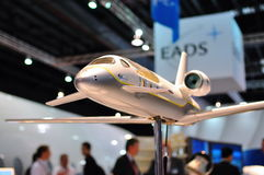 EADS Astrium aircraft model at Singapore Airshow Stock Photos
