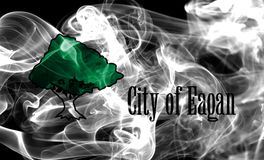 Eagan miasta dymu flaga, Minnestoa stan, Stany Zjednoczone Ameryka Obraz Royalty Free