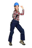 Eager female laborer Royalty Free Stock Photos