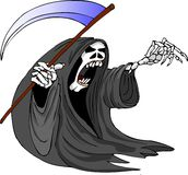 Eager reaper. Reaper trying to get another victim for his collection of souls Royalty Free Stock Images