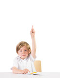 Eager student asking a question Stock Photography