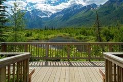 Eagle河自然中心在阿拉斯加 免版税库存照片