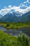 Eagle河自然中心在阿拉斯加 免版税库存图片
