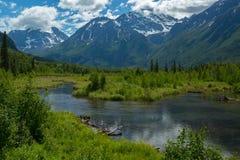 Eagle河自然中心在阿拉斯加 库存照片
